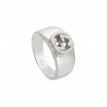 SILVER INTERLOCKING G RING