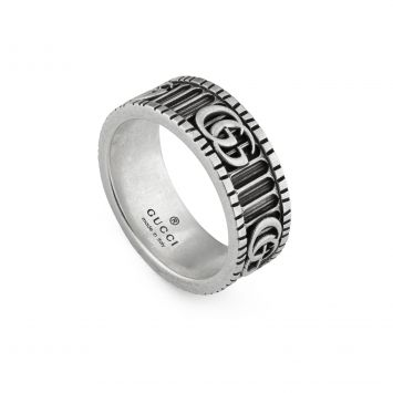 DOUBLE G RING IN SILVER