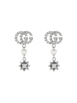 FLORA EARRINGS IN 18K WHITE GOLD AND DIAMONDS