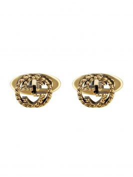 BOUTONS DE MANCHETTE INTERLOCKING G EN OR JAUNE 18K