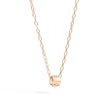 ICONICA CHAIN IN 18K ROSE GOLD AND PENDANT WITH DIAMONDS